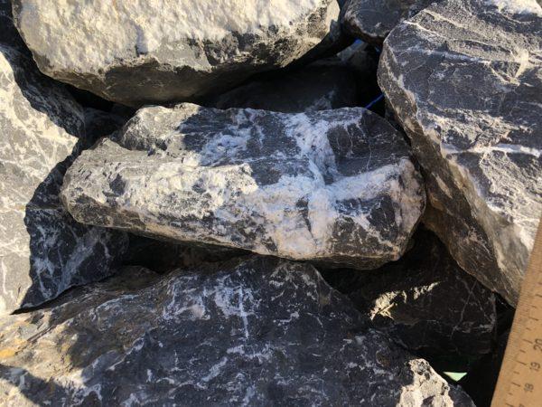 Скальник чёрный, мрамор