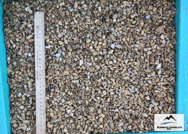 Крошка жёлтая песчаник 5-10 мм